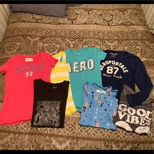Lot of Junior Graphic Tees and tank
